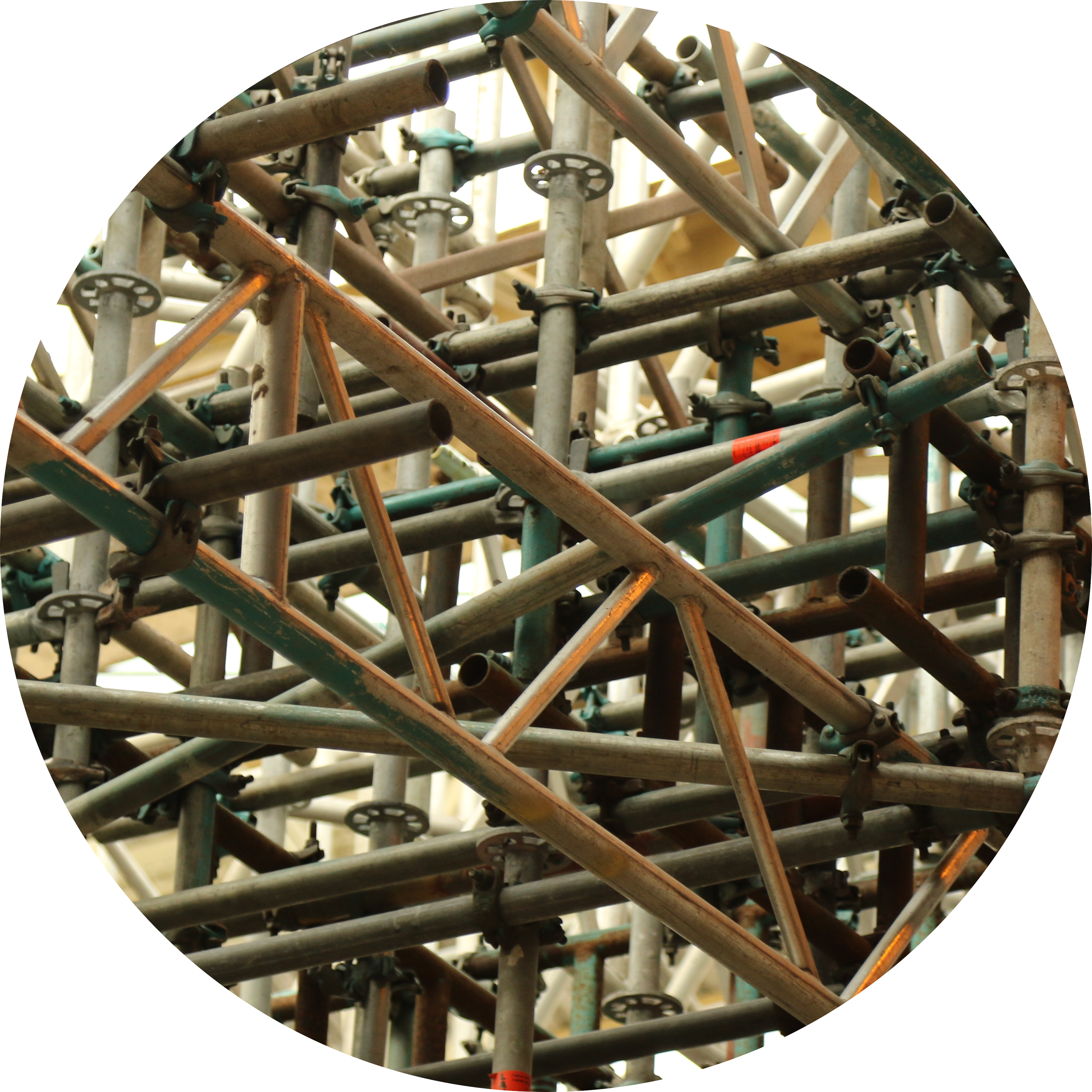 Image of scaffolding bars and brackets.
